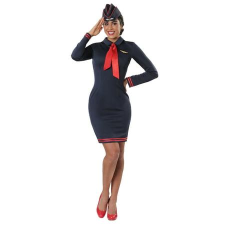 Plus Size Workin' The Skies Flight Attendant Costume - Flight Attendant Hat