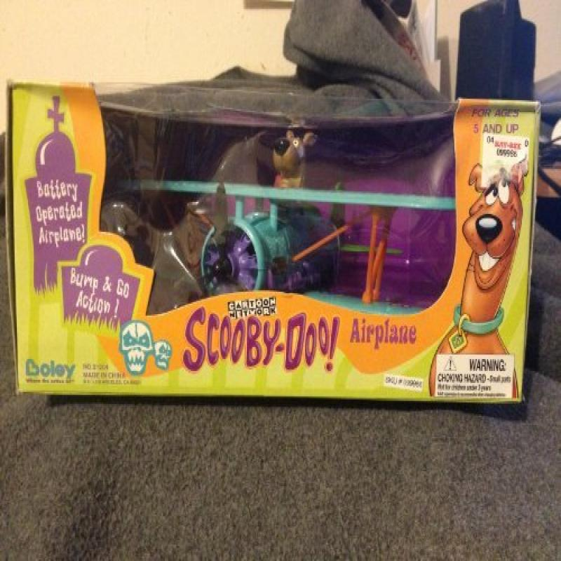 Cartoon Network Scooby-Doo Battery Operated Airplane, Bump & Go Action by