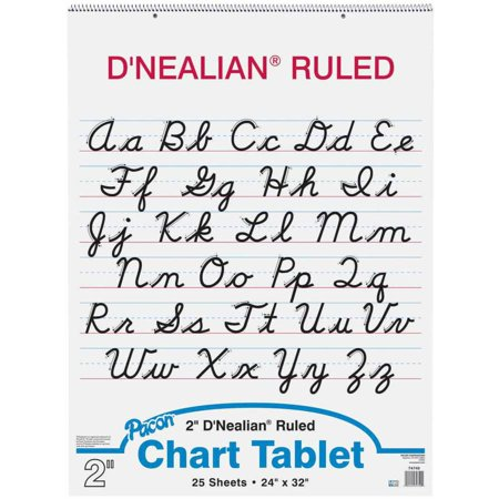 Worksheet D Nealian Cursive Worksheets pacon dnealian 2 hole punched cursive cover chart tablet 24 x x