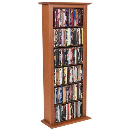 Venture Horizon Single 50″ CD DVD Wall Media Storage Rack-Cherry