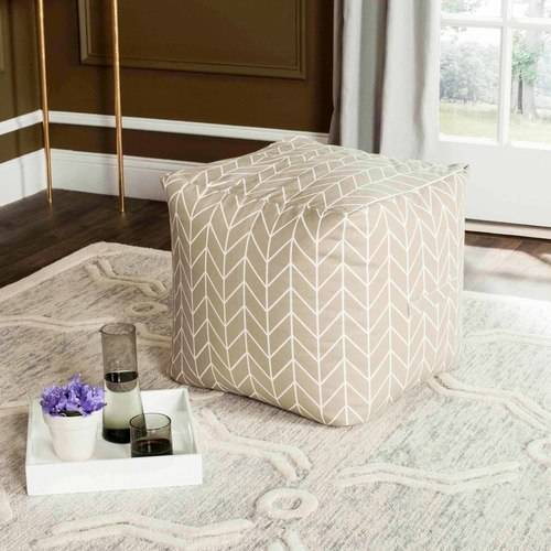 """Safavieh 18"""" French Leaf Pouf, Multiple Colors by Safavieh"""