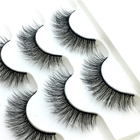 Luxury Makeup 5Pair 3D False Lashes Fluffy Strip Eyelashes Long Natural - Comic Strip Makeup