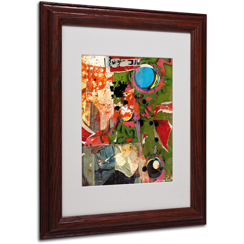 """Trademark Fine Art """"Urban Collage I"""" Matted Framed Art by Miguel Paredes"""