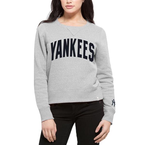 New York Yankees '47 Women's Splash Crew Neck Sweatshirt - Gray