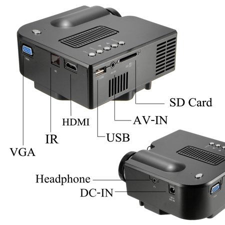 Micro 1080P Projector UC28 + LED projector home HD Mini