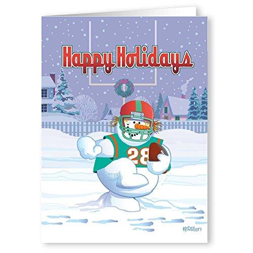 Football Christmas Card - 18 Holiday Cards & Envelopes - Football Theme   70008