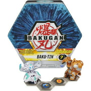 Bakugan Baku-Tin, Premium Collector's Storage Tin with 2 Mystery (Style May Vary), Kids Toys for Boys Aged 6 and up