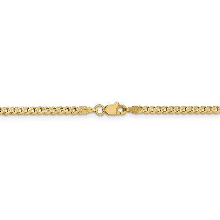 14k 2.3mm Beveled Curb Chain (Weight: 2.41 Grams, Length: 8 Inches) - image 3 of 4