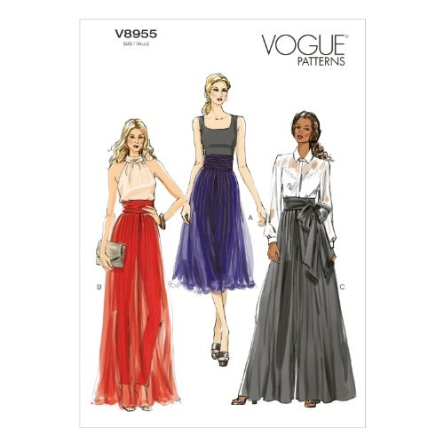 Vogue Patterns V8955 Misses' Pants Sewing Template, Size E5