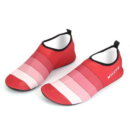 Water Shoes Striped Yoga Socks for Men women Unisex Swim Surf Diving Beach Shoes