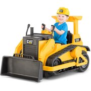 kid trax cat bulldozer 12 volt battery powered ride on image 1 of