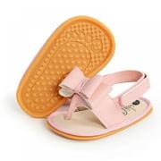 Infant Girl Cute Bow-knot Sandals Soft Sole Anti-slip Cotton Cloth Shoes 0-18M