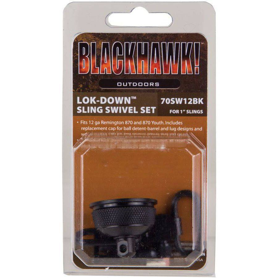 "Blackhawk 70SW12BK Lok-Down Swivel Set/Mag Cap Rem 870 and Yth External, 1"", Blued"