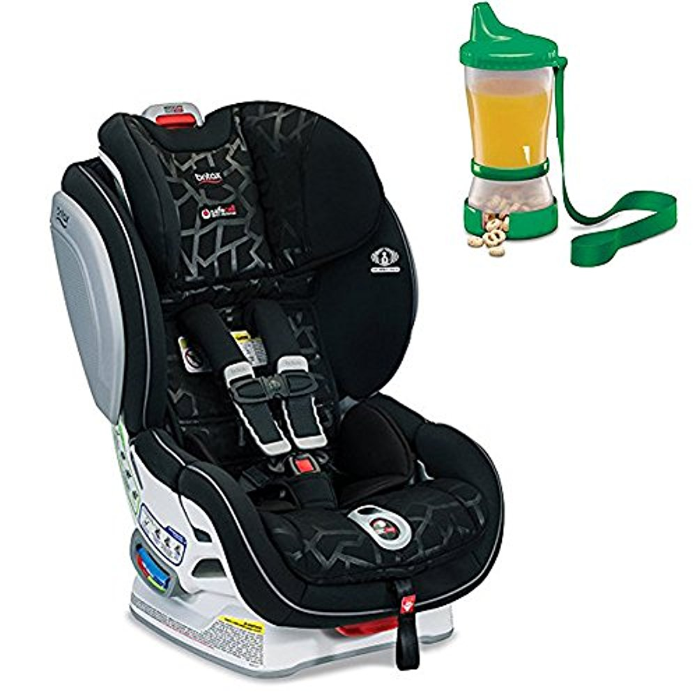 Britax Advocate ClickTight Convertible Car Seat, Mosaic & Non-Spill Cup and Snack Container, Colors May Vary