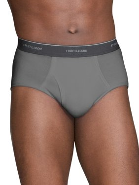 730f3d024fc Product Image Big Men s Dual Defense Stripes Solid Fashion Briefs Extended  Sizes