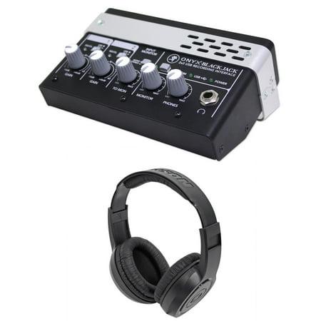 Mackie Onyx Blackjack Blackbird Premium 2X2 Usb Recording Interface Headphones