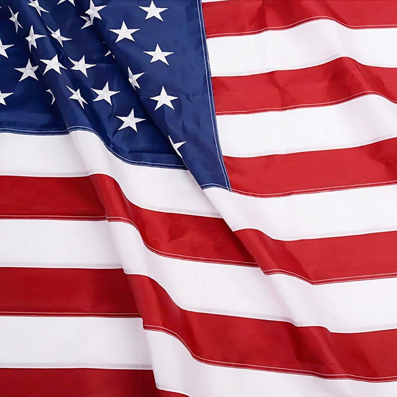 American Flag USA BOAT FLAG 2x3 ft Sewn Embroidered Stars Sewn Stripes USA Made