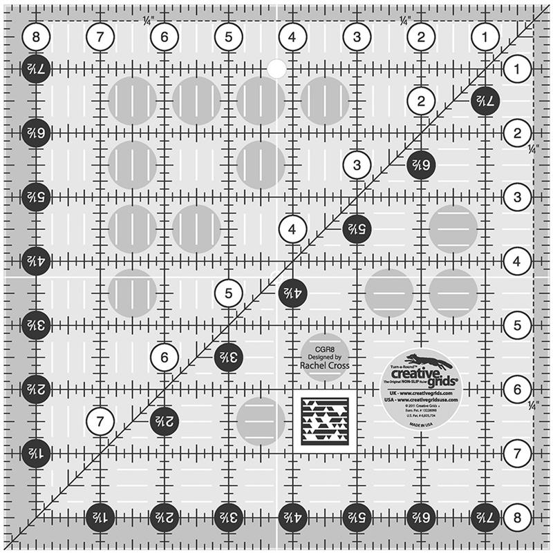 "Creative Grids 8 1/2"" Square Ruler"