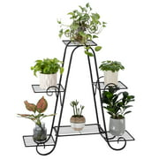 Artisasset 6-Tier 31 Inch Triangle Potted Plant Racks with Black Paint