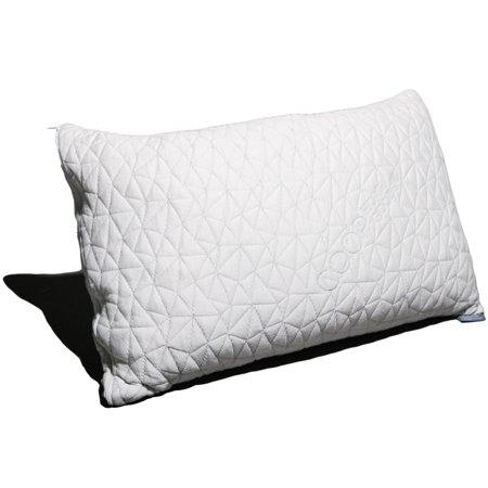 Coop Home Goods - PREMIUM Adjustable Loft - Shredded Hypoallergenic Certipur Memory Foam Pillow with washable removable cover - 20 x 30 - Queen