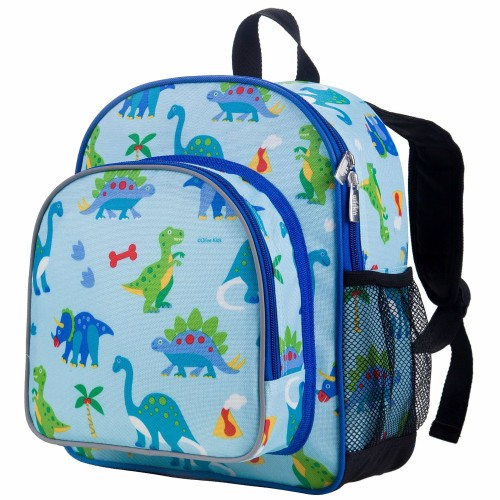 12 Inch Backpack, Olive Kids by Wildkin 12 Inch Backpack with Insulated, Food-Safe Front Pocket and Side Mesh Water Bottle Pocket, Perfect for Preschool, Daycare, and Day Trips – Dinosaur Land