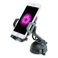 Car Mount Dash Windshield Glass Phone Holder Rotating Cradle Dock Compatible With iPhone XS Max XR X SE 8 PLUS 7 Plus 6S Plus 6 Plus 5C 5, iPad 9.7 O8A