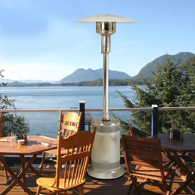 Patio Comfort Stainless Steel Portable Patio Heater by AEI Corporation