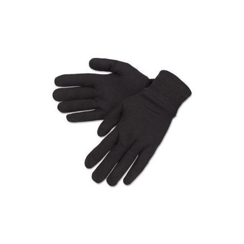General Purpose Jersey Cotton Clute Gloves, One Size, Brown, Dozen