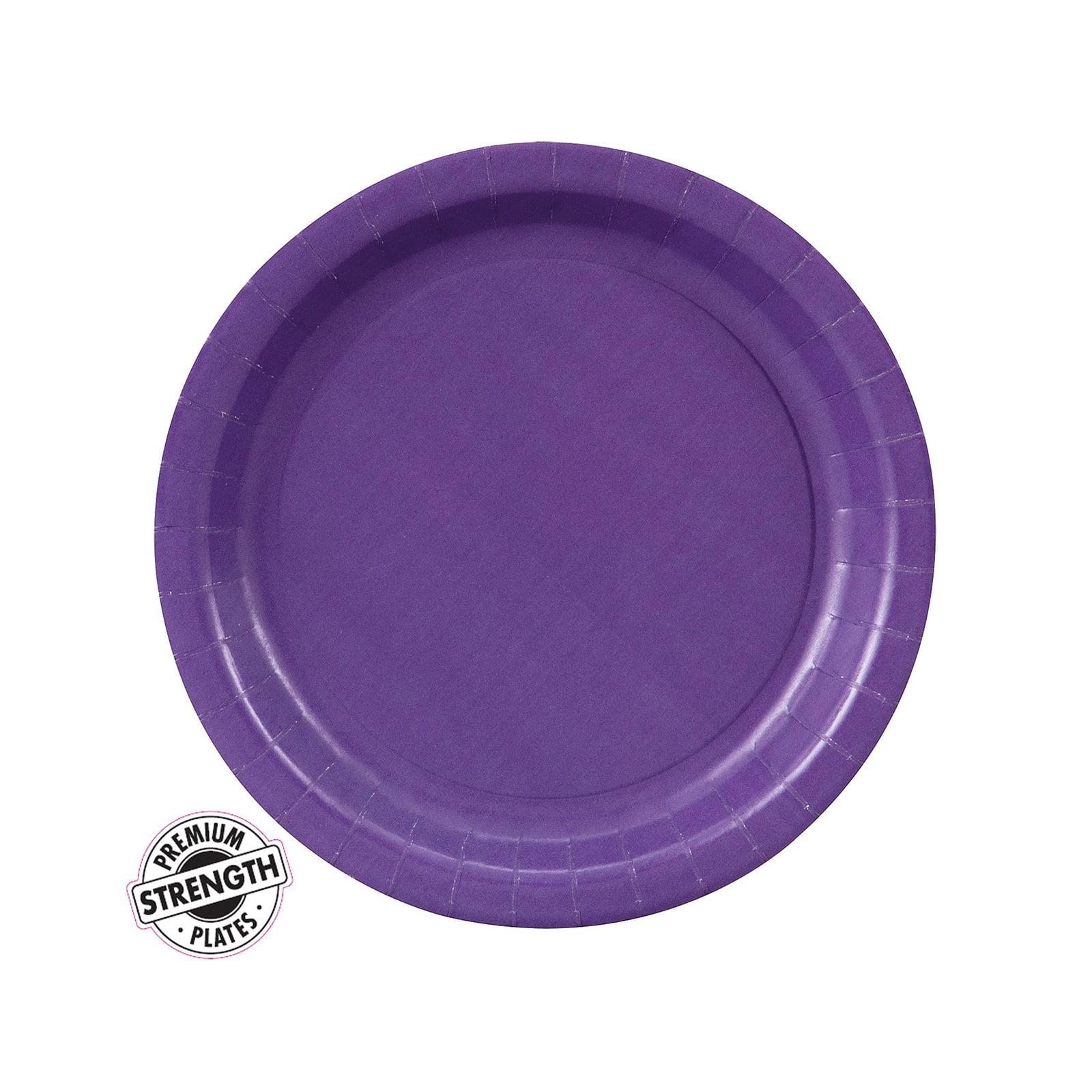Dessert Plate - Purple (24 Count)