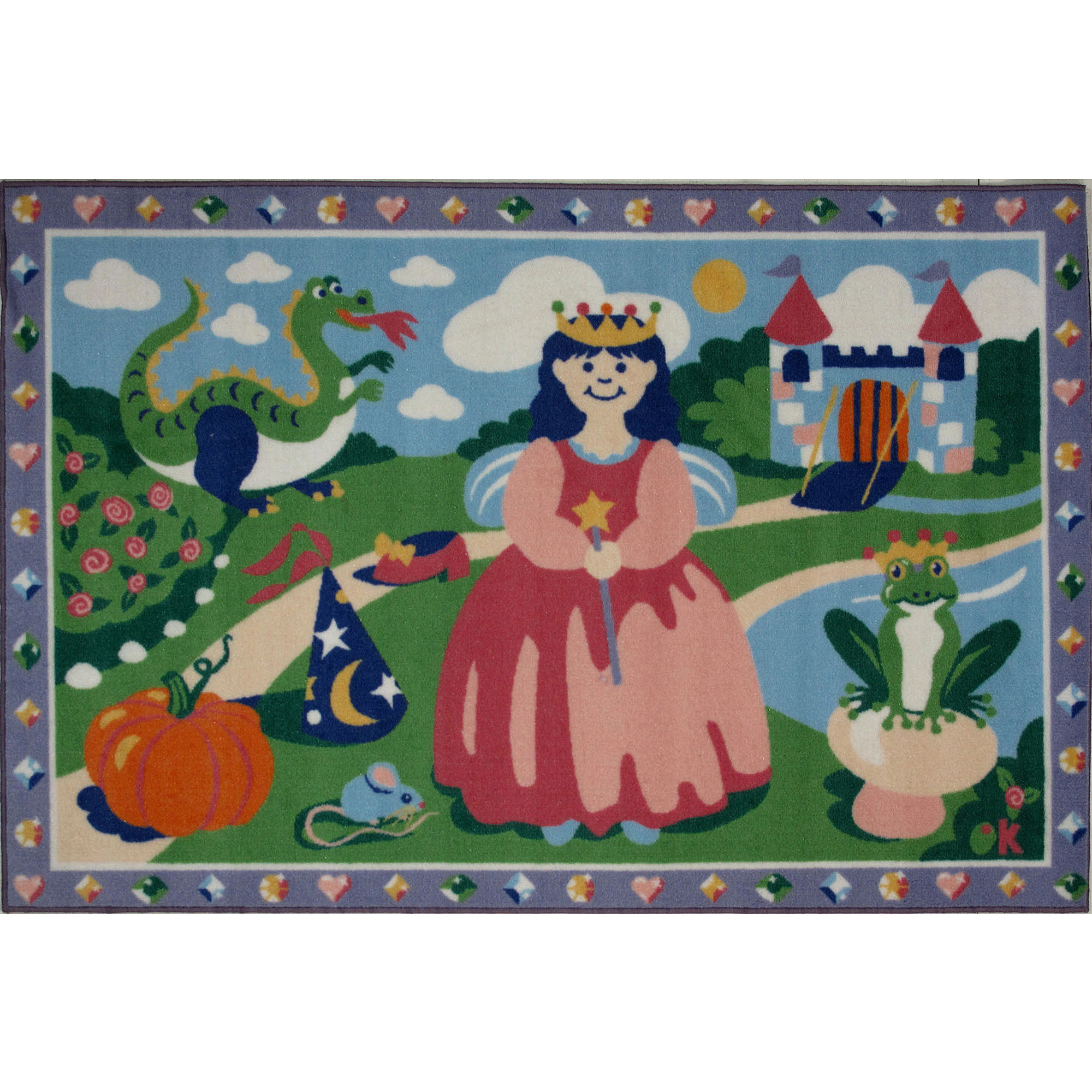 "Fun Rugs Olive Kids Happily Ever After 19"" x 29"" Rug"