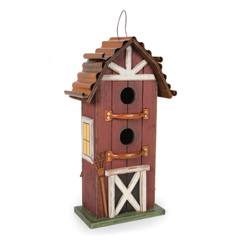 Wooden Birdhouse Barn 8.25 x 15 Inches by Darice
