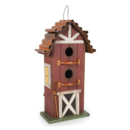 Darice Wooden Birdhouse - Barn - 8.25 x 15 Inches