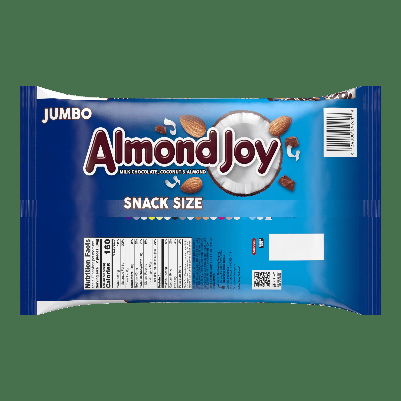 Almond Joy, Milk Chocolate Coconut & Almonds Candy Snack Size, 20.1 ...