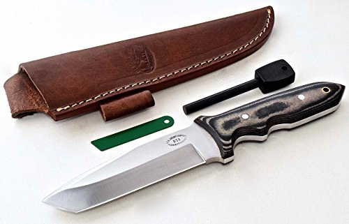 Click here to buy CFK Cutlery Company USA D2 Tool Steel BATTLE-RAPTOR TANTO II Micarta Hunting Skinning Tactical Bushcraft Knife with... by CFK Cutlery Company.