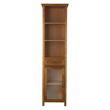 Elegant Home Fashions Calais Linen Cabinet, Oil (Bronze Traditional Cabinet)