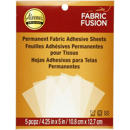 """Aleenes 4.25"""" x 5"""" Fabric Fusion Sheets, 5 Count"""