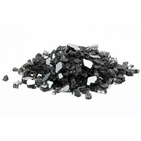 Dragon Glass 10 lb Black Reflective Tempered Fire Glass, 1/4