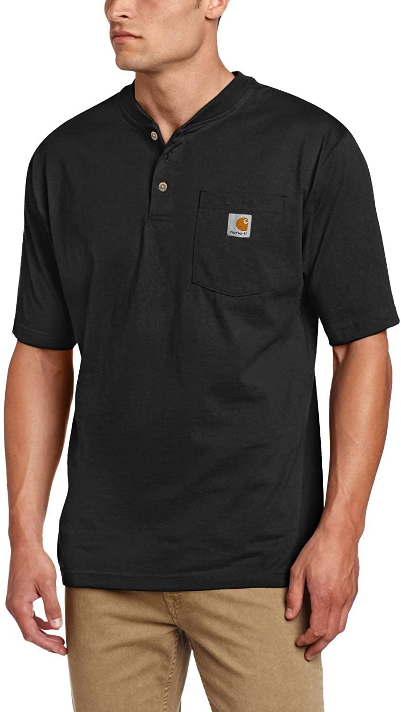 Carhartt Mens Big /& Tall Workwear Pocket Short Sleeve Henley Original Fit K84,Heather Gray,XXX-Large Tall