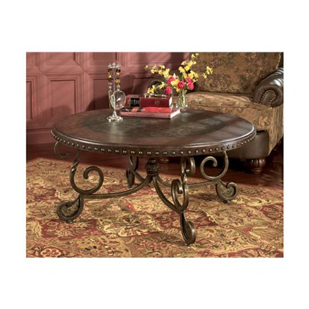 Signature Design By Ashley Rafferty Brown Round Tail Table