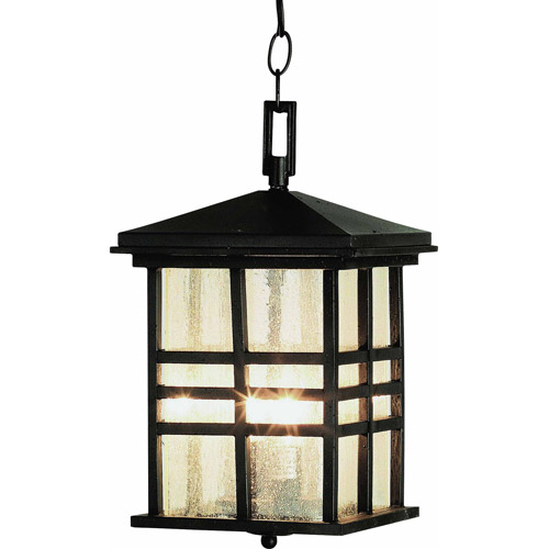 "Belair Lighting Japanese 14"" Outdoor Pendant Hanging Lantern, Weathered Bronze"