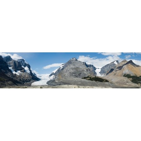 View of Athabasca Glacier along the Icefields Parkway Jasper National Park Alberta Canada Canvas Art - Panoramic Images (5 x