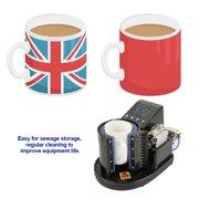 Mgaxyff Mug Heat Press,US Plug 110V Pneumatic Auto Mug Transfer Sublimation Heat Press Machine ST-110 Black, Pneumatic Mug Press Machine