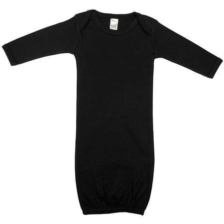 Earth Elements Baby Long Sleeve Gown 0-3 Months Black