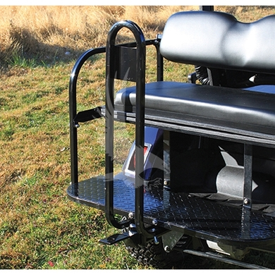 Universal Rear Seat Trailer Hitch and Grab Bar Combo