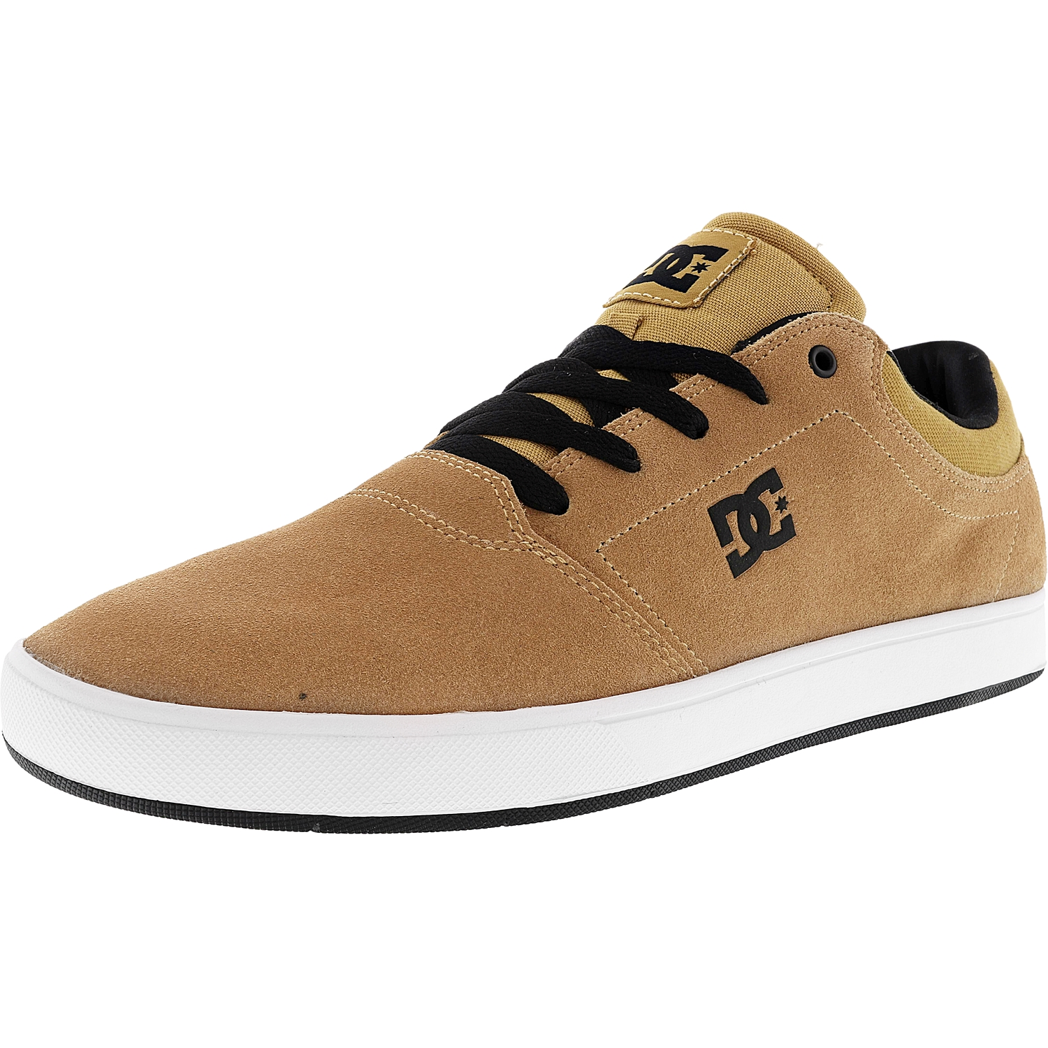 Dc Men's Crisis Tan Ankle-High Suede Skateboarding Shoe - 11.5M