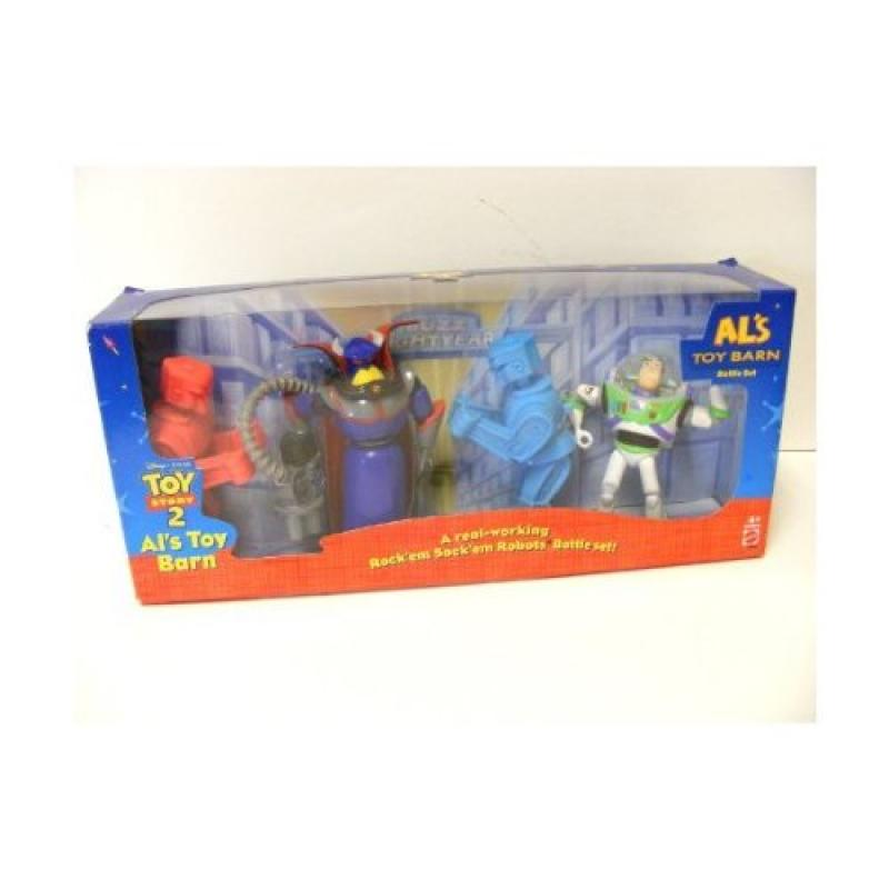 Disney TOY STORY 2 ALs Toy Barn Battle Set ROCK'EM SOCK'EM Robots Buzz Lightyear Evil... by