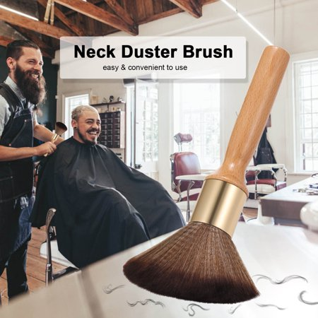 Neck Duster Brush Large Neck Hair Brush Face Cleaning Hairbrush Soft Bristles Long Wooden Handle Hair Cutting Tools - image 7 of 7