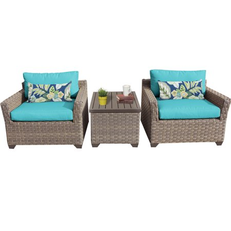 Hampton 3 Piece Outdoor Wicker Patio Furniture Set (Whitney Design Wicker)