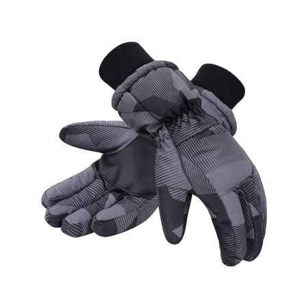 Toppers Mens Waterproof Winter Thinsulate Lined Snowboard Ski Gloves Black S