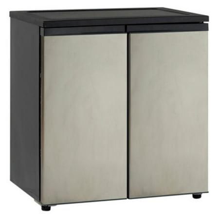 Avanti 5.5 Cu Ft Side-by-Side Refrigerator/Freezer, Stainless (Cheap Side By Side Stainless Steel Refrigerators)